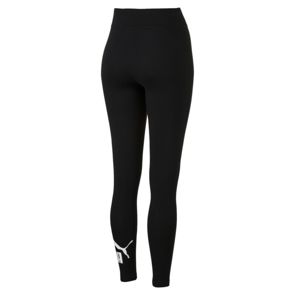 Leggings con logo de mujer Essentials, Cotton Black, grande