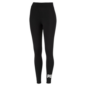 Thumbnail 4 of Damen Essentials Logo Leggings, Cotton Black, medium