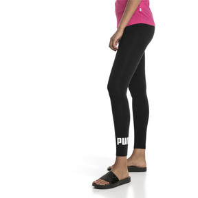 Thumbnail 1 of Damen Essentials Logo Leggings, Cotton Black, medium