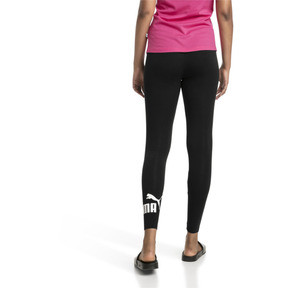 Thumbnail 2 of Damen Essentials Logo Leggings, Cotton Black, medium