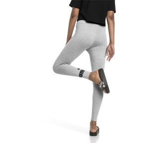 Imagen en miniatura 2 de Leggings con logo de mujer Essentials, Light Gray Heather, mediana