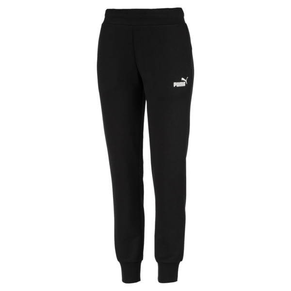 Essential Knitted Women's Sweatpants, Cotton Black, large