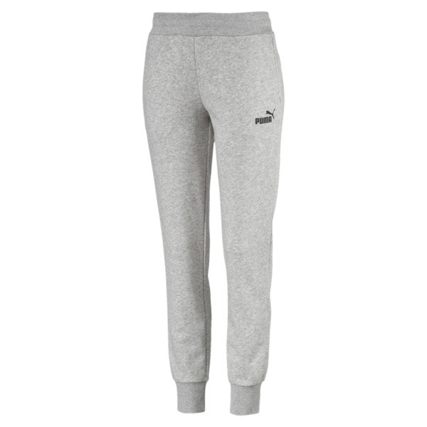 Essential Knitted Women's Sweatpants, Light Gray Heather, large