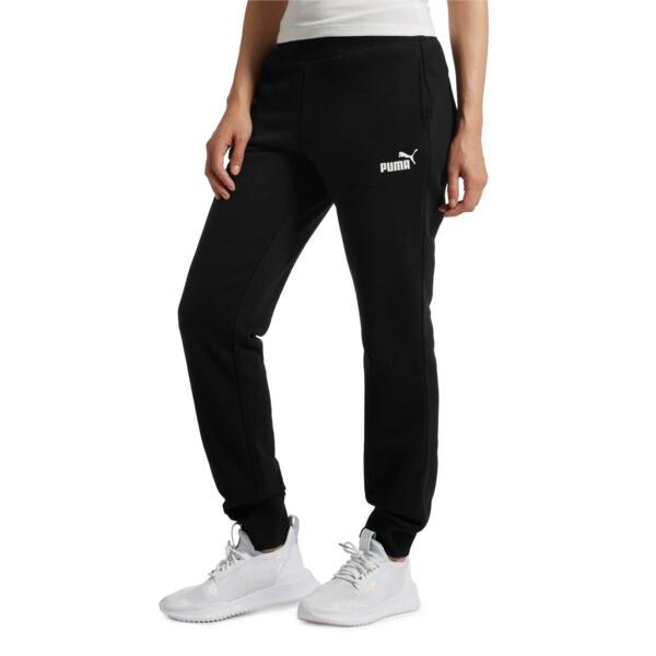 Essentials Fleece Women's Pants, Cotton Black, large