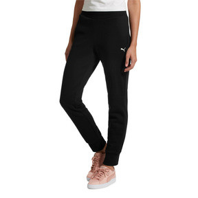 Thumbnail 2 of Essentials Fleece Women's Pants, Cotton Black-Cat, medium