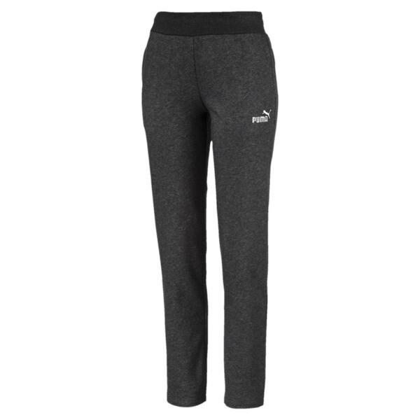 Essentials Fleece Women's Knitted Pants, Dark Gray Heather, large