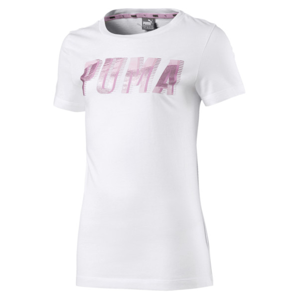T-Shirt Style Graphic pour fille, Puma White, large
