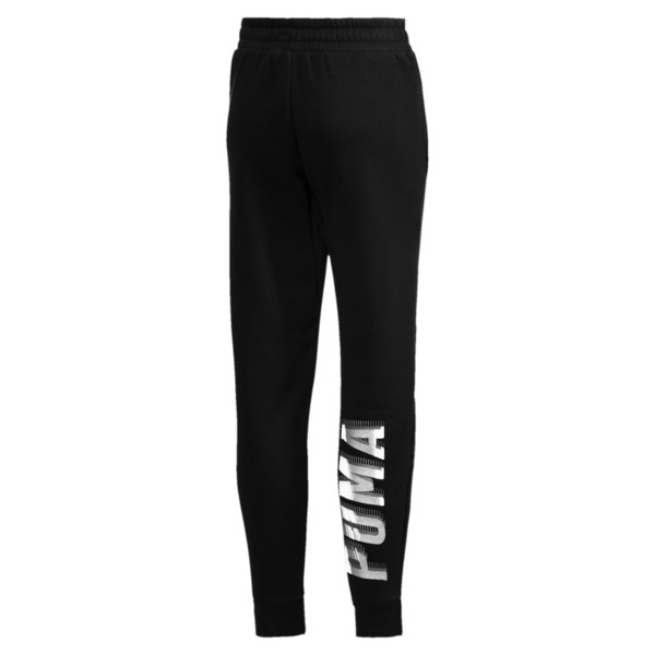 Girls' Fleece Sweatpants, Cotton Black-1, large