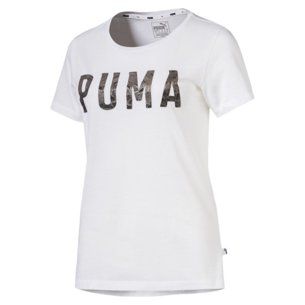3211fd1444f Athletic Women's Tee | Puma White-MetalicAsh | PUMA Clothing | PUMA ...
