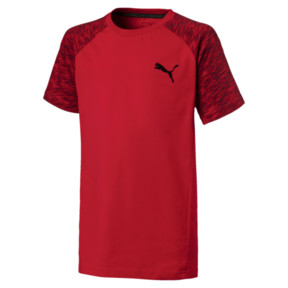 Thumbnail 1 of Jungen Evostripe T-Shirt, Ribbon Red, medium