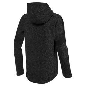 Thumbnail 2 of Active Boys' Evostripe Full Zip Hoodie, Cotton Black, medium