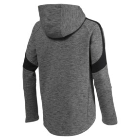Thumbnail 2 of Active Boys' Evostripe Full Zip Hoodie, Medium Gray Heather, medium