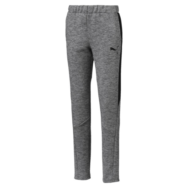 Evostripe Boys' Pants, Medium Gray Heather, large