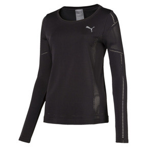 Thumbnail 1 of evoKNIT Seamless Long Sleeve Top, Puma Black, medium