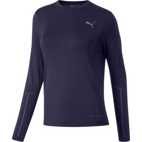 Thumbnail 1 of evoKNIT Seamless Long Sleeve Top, Peacoat, medium