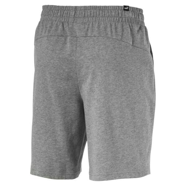 Essentials Jersey Men's Shorts, Medium Gray Heather, large