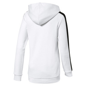 Thumbnail 2 of Classics Girls' T7 Hoodie JR, Puma White, medium