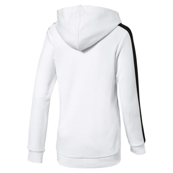 Girl's Classics T7 Hoodie JR, Puma White, large