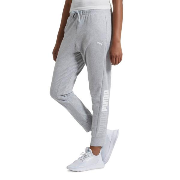 Modern Sport Women's Track Pants, Light Gray Heather, large