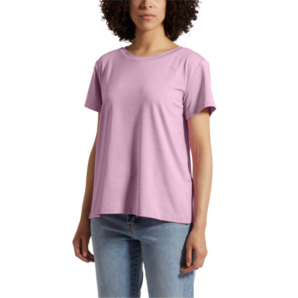 Soft Sport Women's T-Shirt, Orchid-heather, large