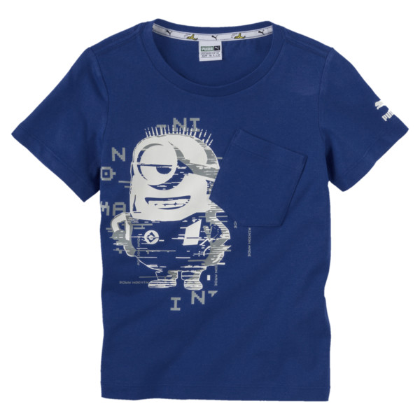 PUMA x MINIONS Boys' Tee JR, Sodalite Blue, large