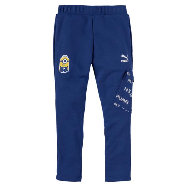 PUMA x MINIONS Boys' Pants JR, Sodalite Blue, large
