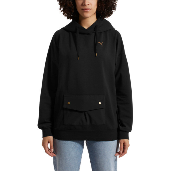 FUSION Hoodie, Cotton Black, large