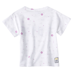 Thumbnail 2 of PUMA x MINIONS Girls' Tee, Puma White, medium