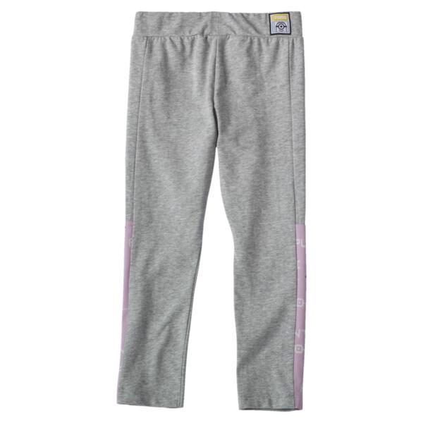PUMA x MINIONS Girls' Leggings JR, Light Gray Heather, large