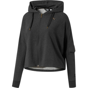 Thumbnail 1 of FUSION Full-Zip Hoodie, Dark Gray Heather, medium