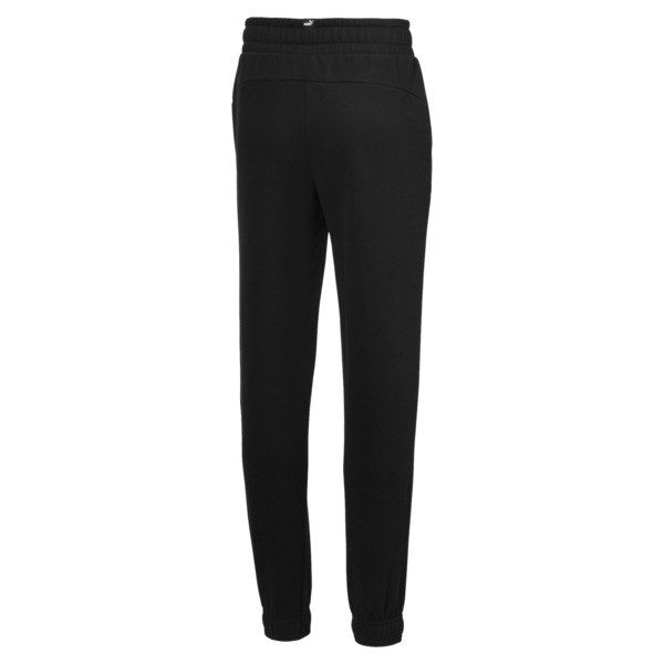 Boy's Essentials Sweatpants, Cotton Black, large