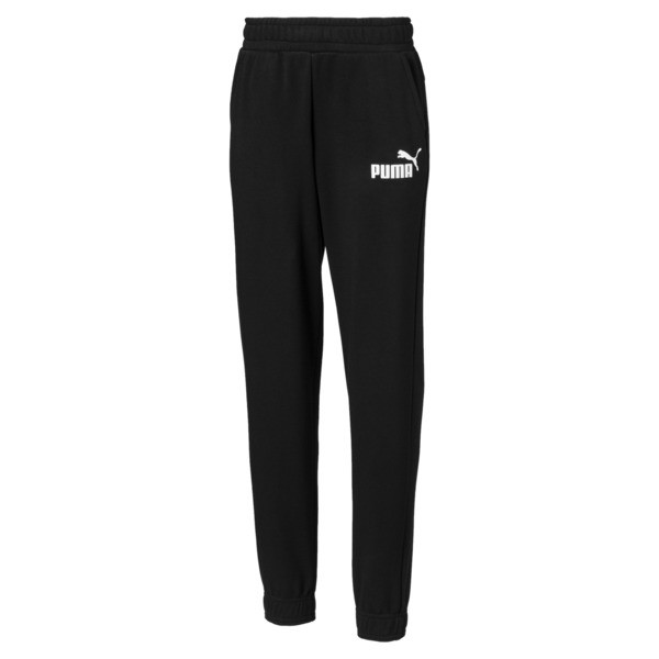 Essentials Boys' Sweatpants, Cotton Black, large