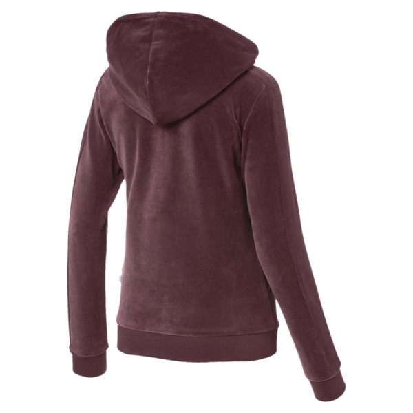 Chaqueta con capucha Essentials+ Velour, Vineyard Wine, grande