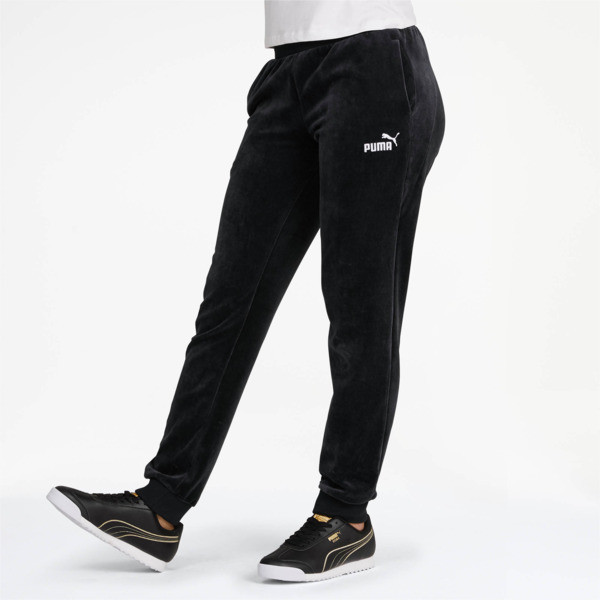 Essentials+ Velour Pants, Cotton Black, large