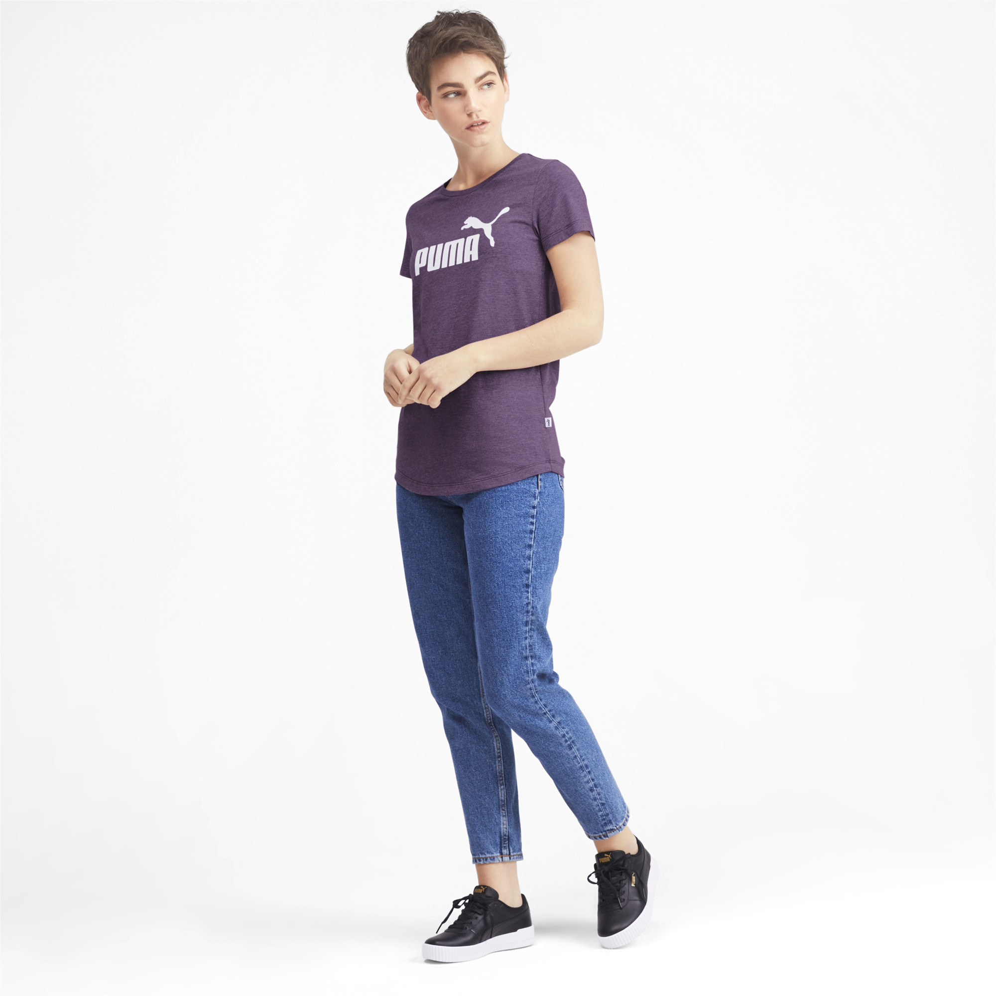 PUMA-Essentials-Women-039-s-Heather-Tee-Women-Tee-Basics thumbnail 20