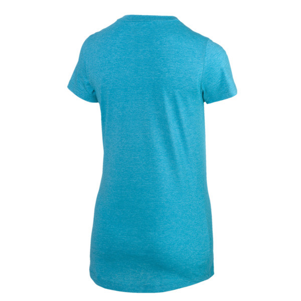 Essentials + Women's Heather Tee, Caribbean Sea Heather, large