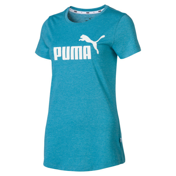 8f8d529bb Essentials + Women's Heather Tee | Caribbean Sea Heather | PUMA ...