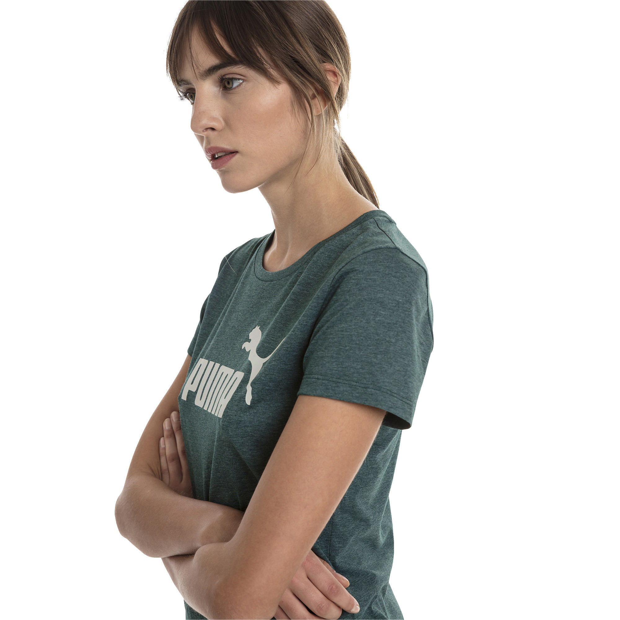 PUMA-Essentials-Women-039-s-Heather-Tee-Women-Tee-Basics thumbnail 45