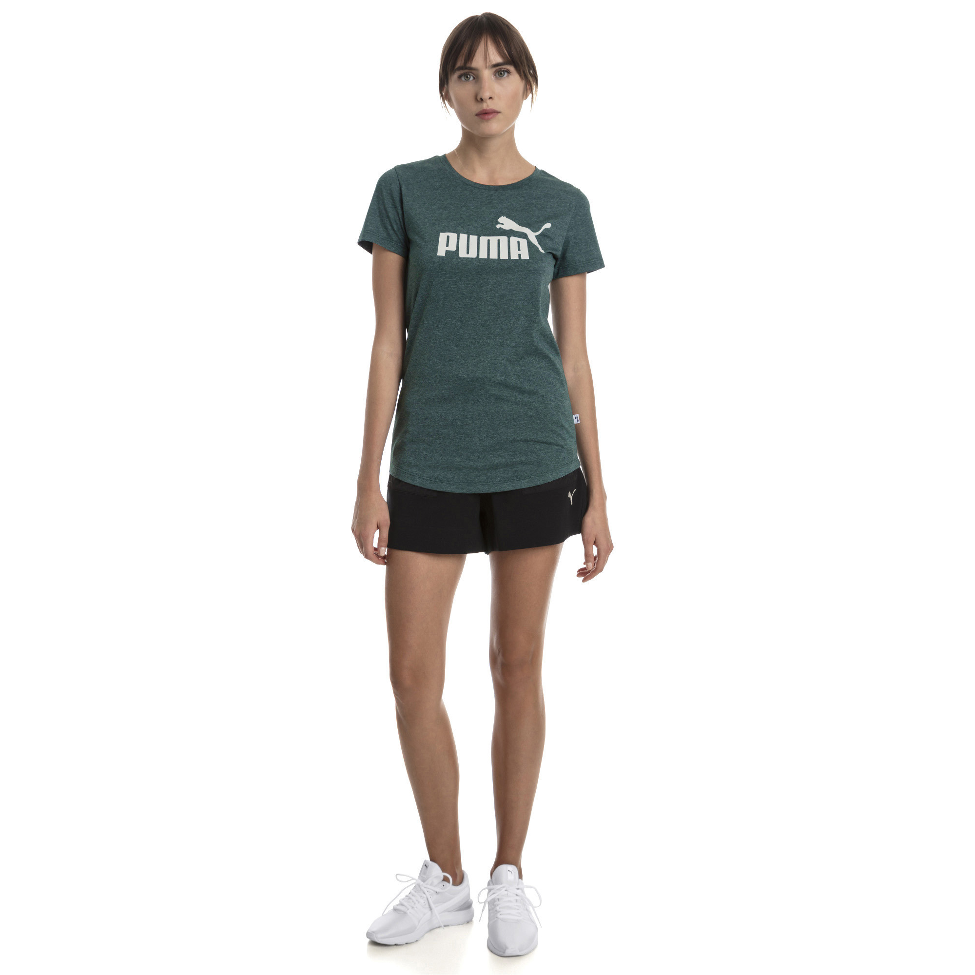 PUMA-Essentials-Women-039-s-Heather-Tee-Women-Tee-Basics thumbnail 14