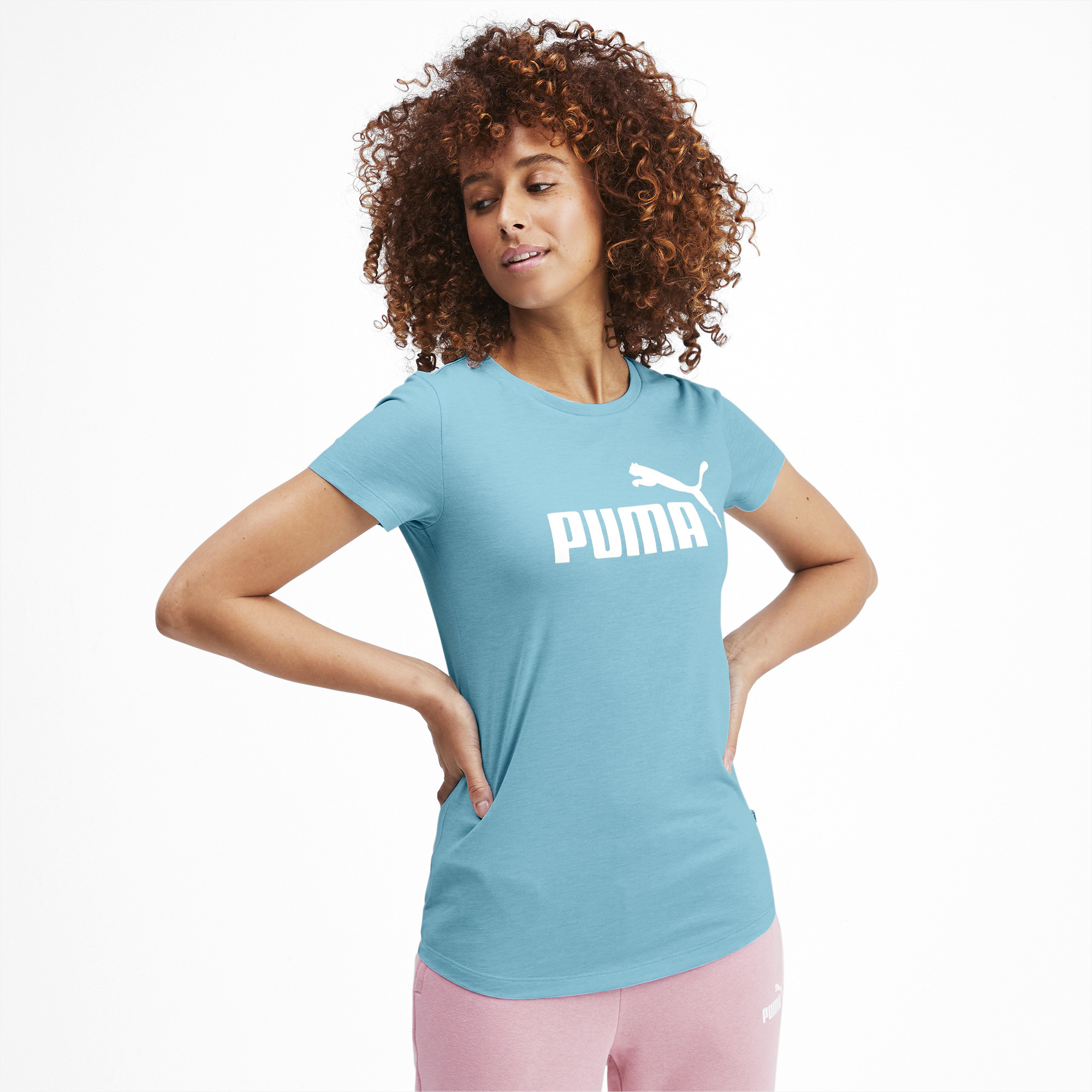 PUMA-Essentials-Women-039-s-Heather-Tee-Women-Tee-Basics thumbnail 52