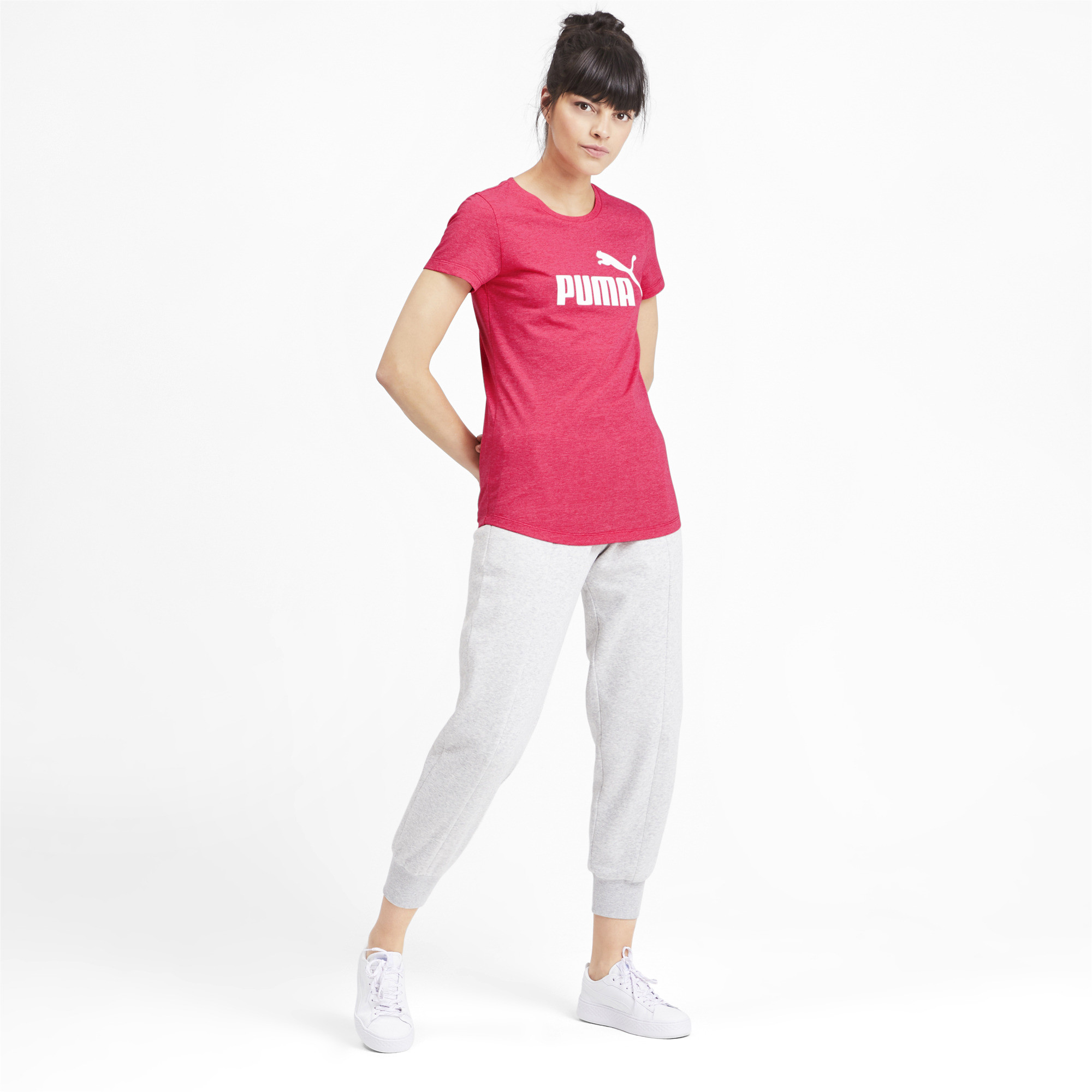 PUMA-Essentials-Women-039-s-Heather-Tee-Women-Tee-Basics thumbnail 31