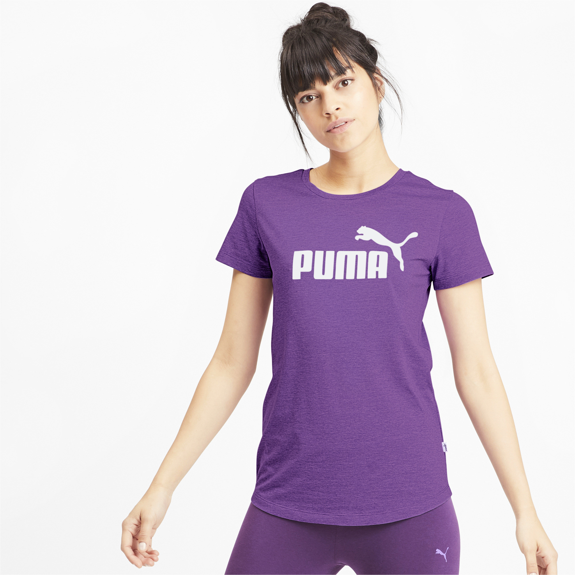 PUMA-Essentials-Women-039-s-Heather-Tee-Women-Tee-Basics thumbnail 34