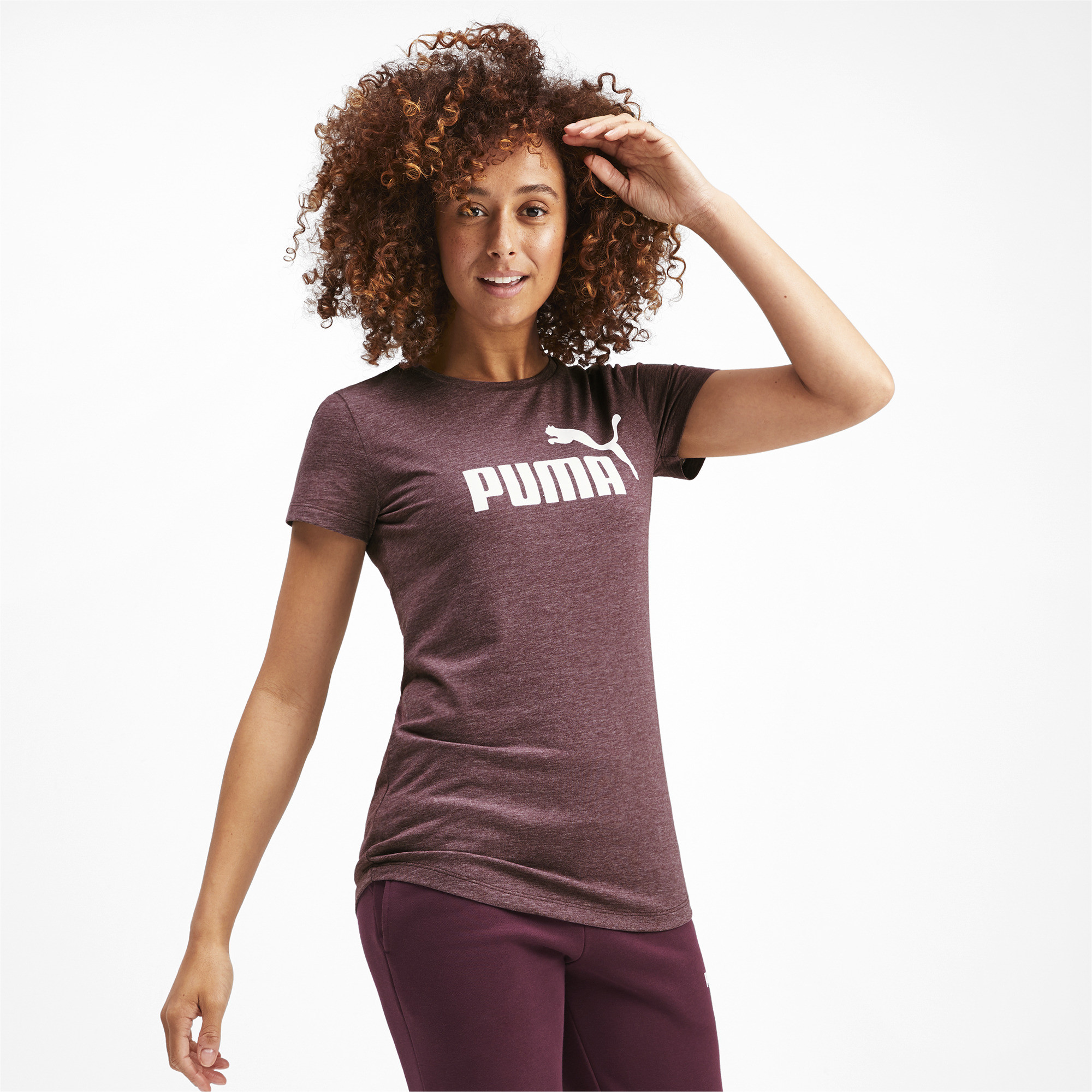 PUMA-Essentials-Women-039-s-Heather-Tee-Women-Tee-Basics thumbnail 9