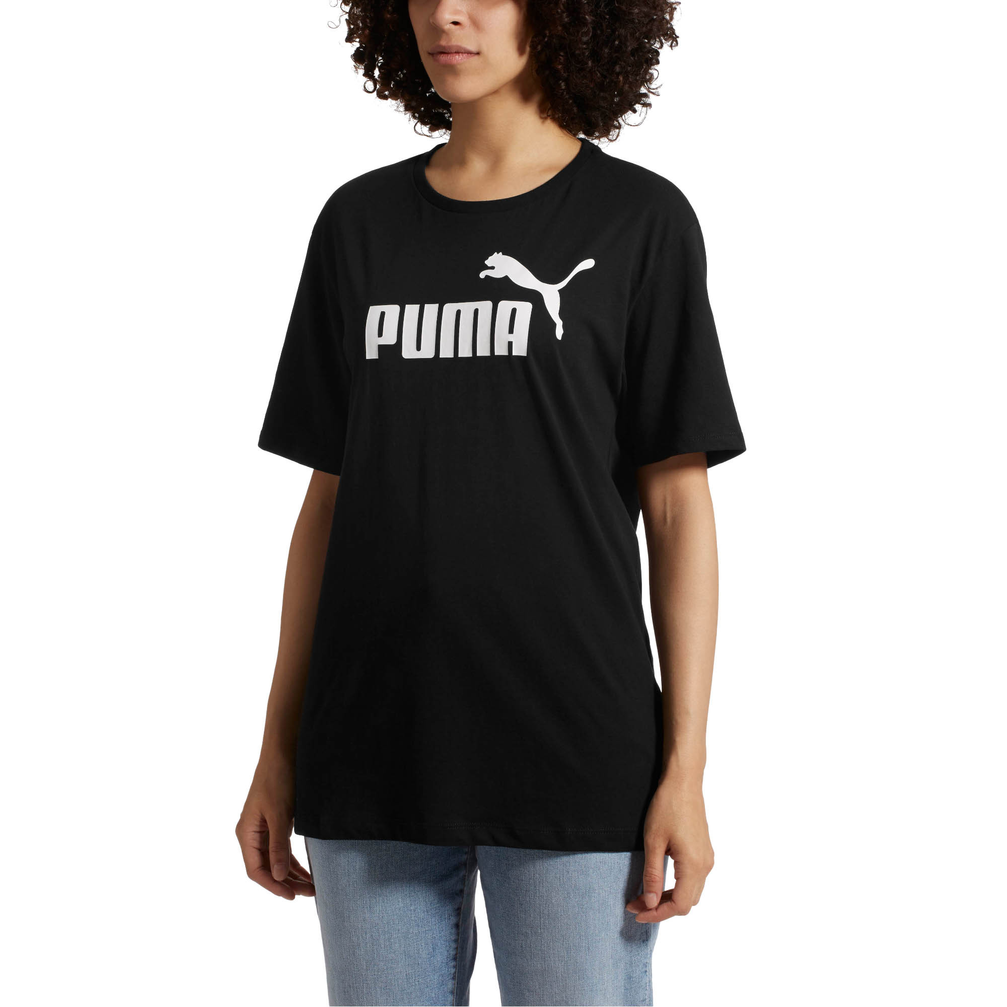Activewear Tops Activewear Puma Essential Logo Womens Ladies Sports Fashion Boyfriend T-shirt Tee
