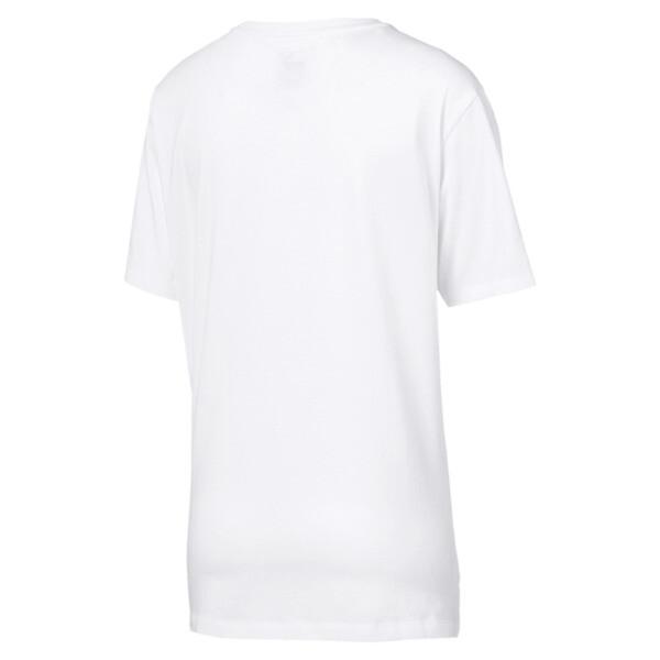 Women's Boyfriend Logo T-Shirt, Puma White, large