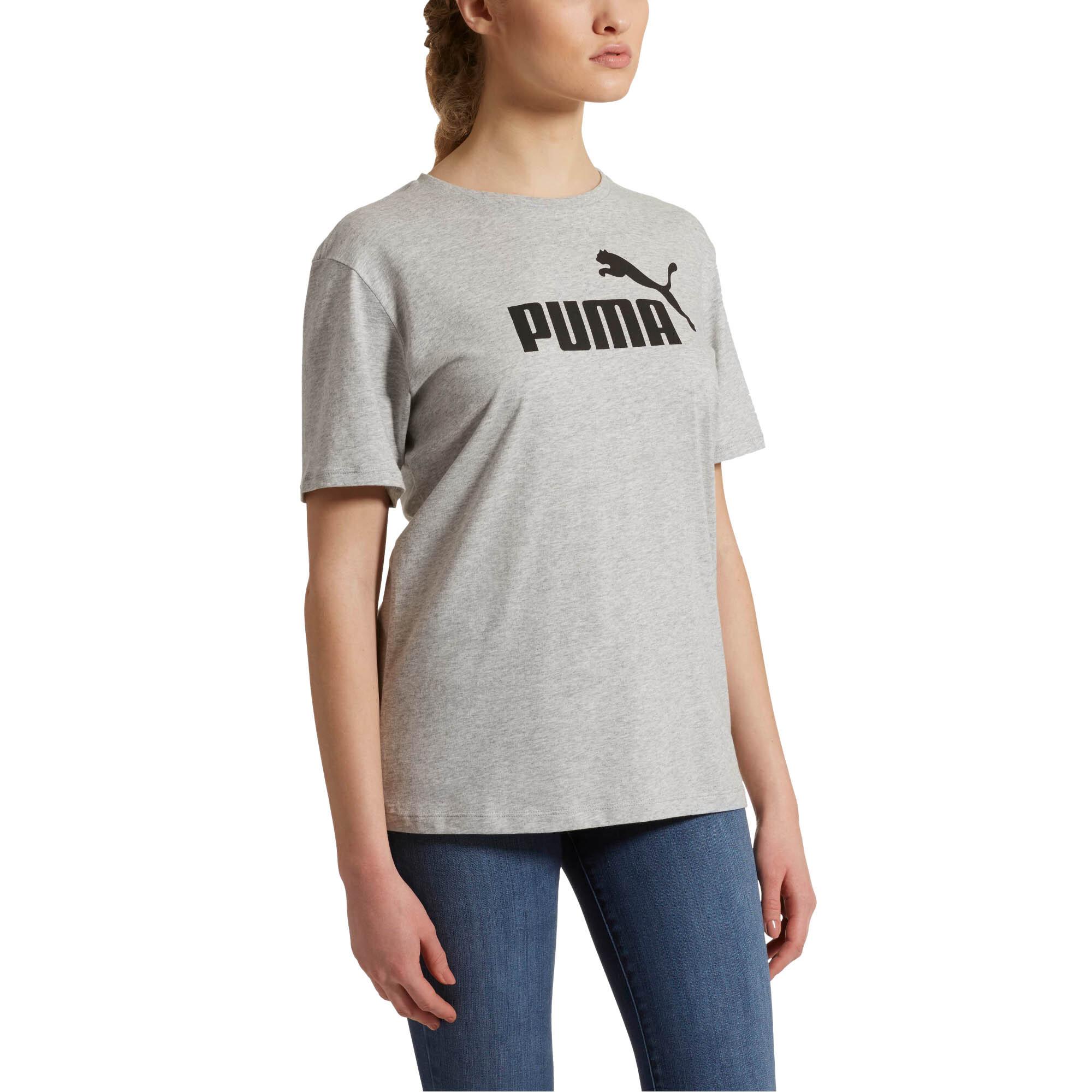 Shirts Activewear Logo Womens Ladies Sports Fashion Boyfriend T-shirt Tee Puma Essential