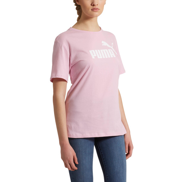 Essentials+ Women's Boyfriend Logo Tee, Pale Pink, large