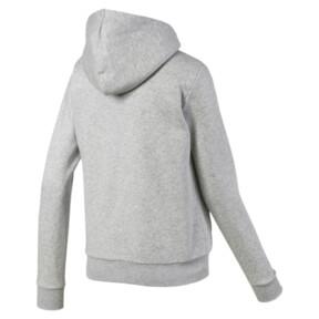 Miniatura 5 de Chaqueta con capucha Essentials + Sherpa para mujer, Light Gray Heather, mediano