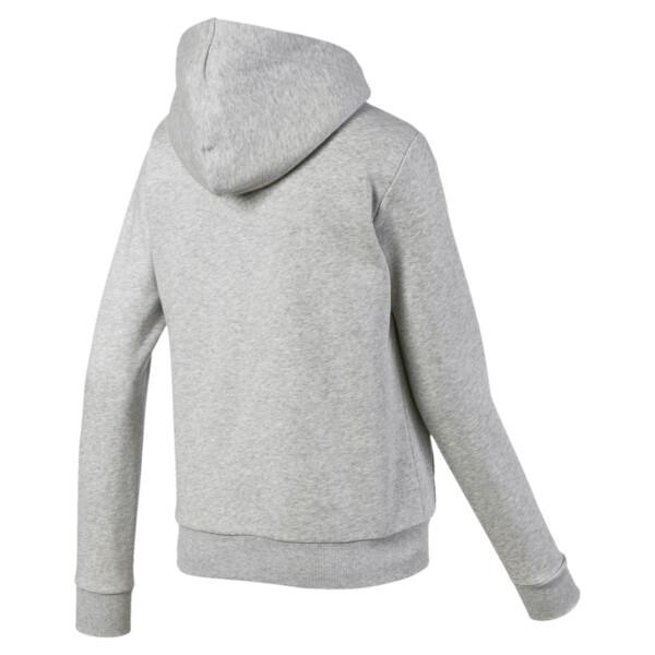 Chaqueta con capucha Essentials + Sherpa para mujer, Light Gray Heather, grande