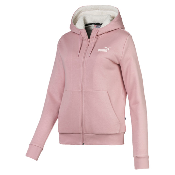 Essentials + Sherpa Women's Hooded Jacket, Bridal Rose, large
